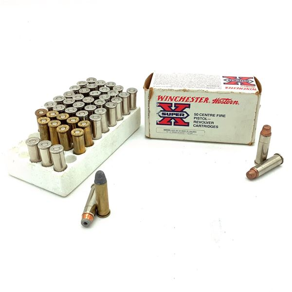 Assorted 357 Mag Ammunition, 59 Rounds and 4 Cases