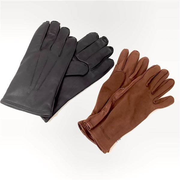 Leather Gloves Size 11, Black and DND Gloves Size Medium, Brown