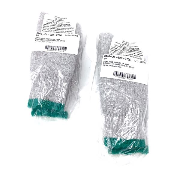 Cold Weather Wool Socks Size Sm X 2, New