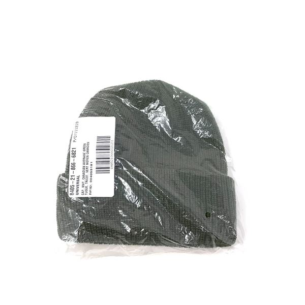 Military Knit Toque, Average, Green