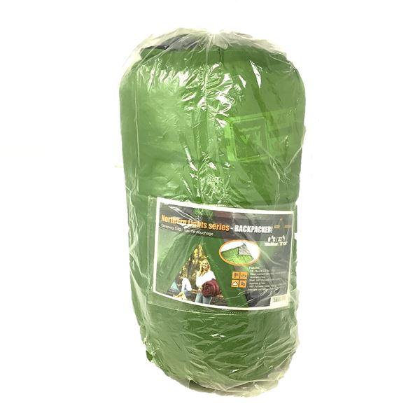 Northern Lights Series BackPacker Sleeping Bag, Green
