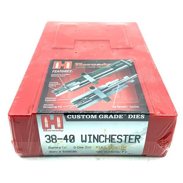 Hornady 38-40 Winchester 3 Die Set, Series IV, Full Length, New