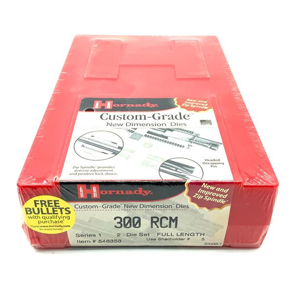 Hornady 300 RCM 2 Die Set, Series 1, Full Length, New