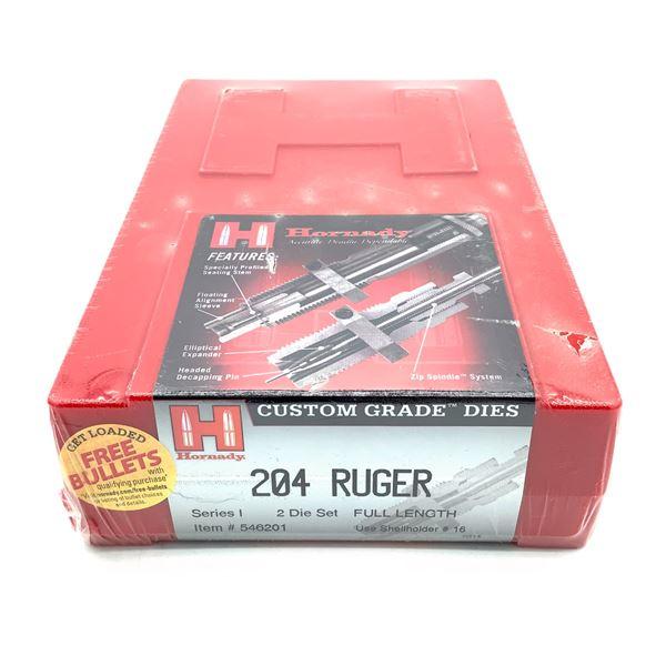 Hornady 204 Ruger 2 Die Set, Series I, Full Length, New