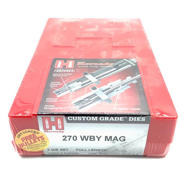 Hornady 270 WBY Mag 2 Die Set, Full Length, New