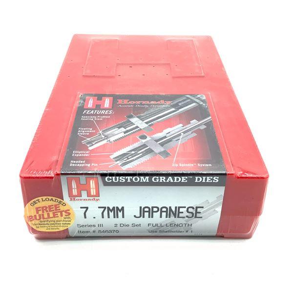 Hornady 7.7mm Japanese 2 Die Set, Series III, Full Length, New