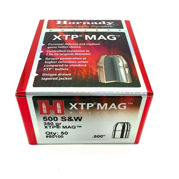 Hornady 500 S& W XTP Mag Projectiles, 350 gr, 50 Count, New