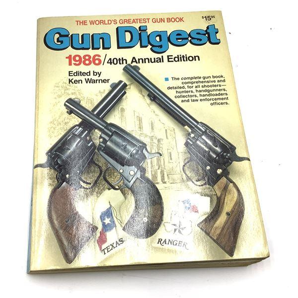 1986 Gun Digest 480 Pages