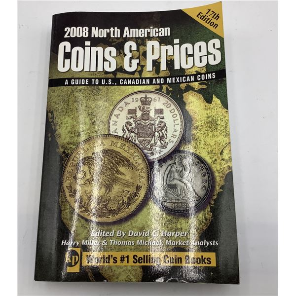 17th edition 2008 Coins and Prices 600 pages