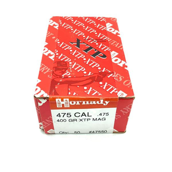 Hornady 475 Caliber Projectiles, 400 gr XTP Mag, 50 Count, New