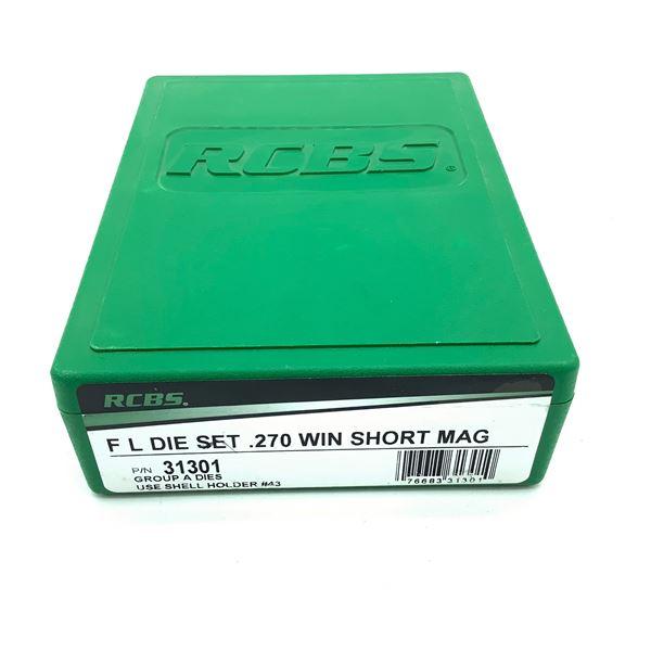 RCBS 270 Win Short Mag Full Length 2 Die Set, New