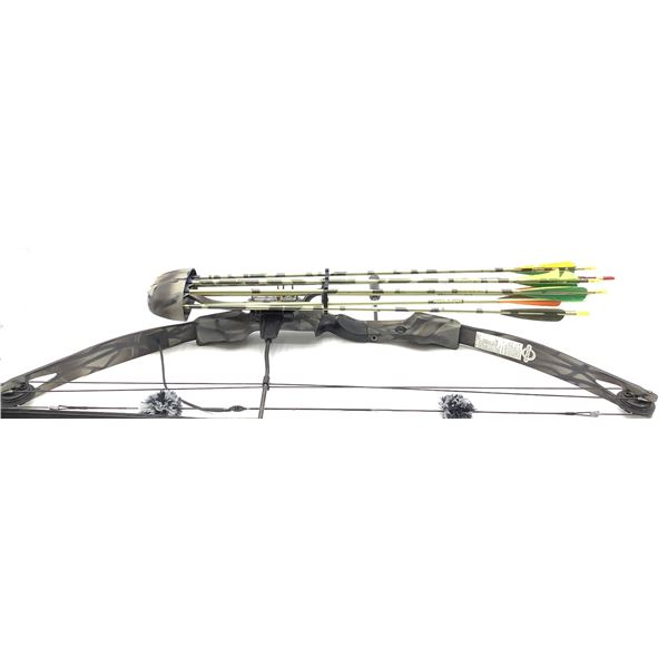 """Bear  """"Black Bear"""" Compound Bow with Quiver and Arrows."""