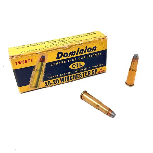 Dominion CIL 25-20 Winchester 86 Grain SP Ammunition, 9 Rounds