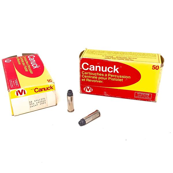 Canuck IVI 38 Special 158 Gr Lead HP Ammunition,99 Rounds