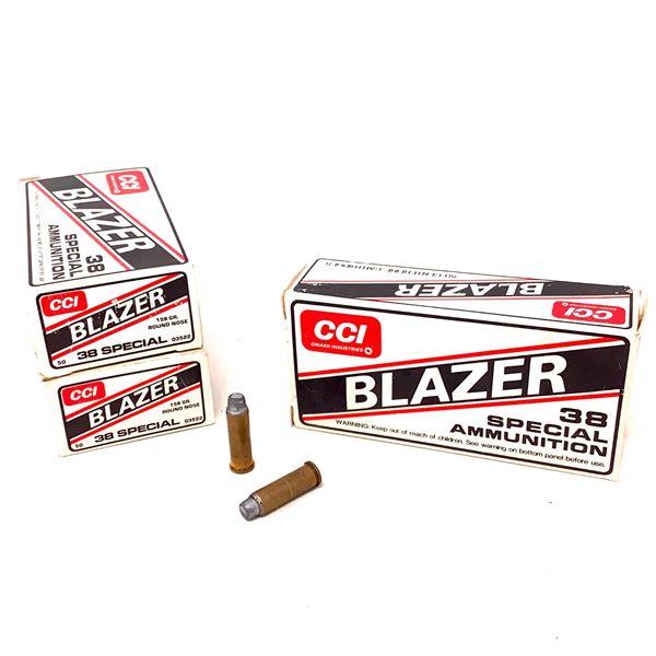 Blazer 38 Special 158 Grain RN Ammunition, 150 Rounds