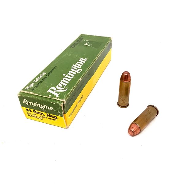 Remington 44 Rem Mag 240 Grain Ammunition, 20 Rounds