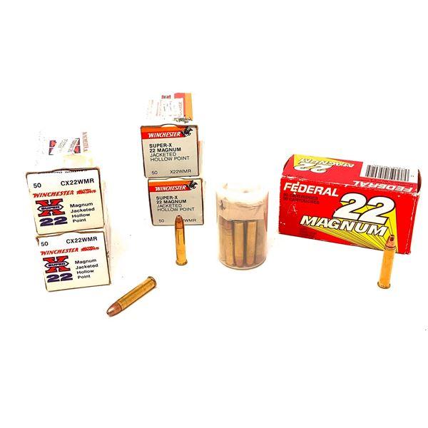 Assorted 22 WMR Ammunition, Approx 230 Rounds