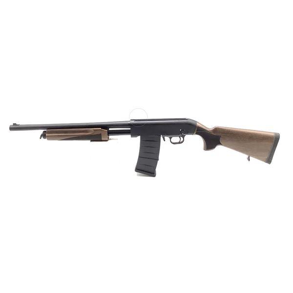 "Hunt Group MH-P Pump-Action Shotgun, 18"" Barrel, 12 Ga. 3"", Walnut Stocks, New"