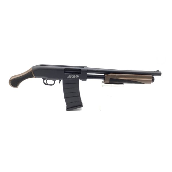 "Hunt Group MH-P Pump-Action Shotgun, 15"" Barrel, 12 Ga. 3"", Walnut Stocks, New"