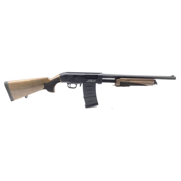 "Hunt Group MH-P Pump-Action Shotgun, 18.5"" Barrel, 12 Ga. 3"", Walnut Stocks, New"