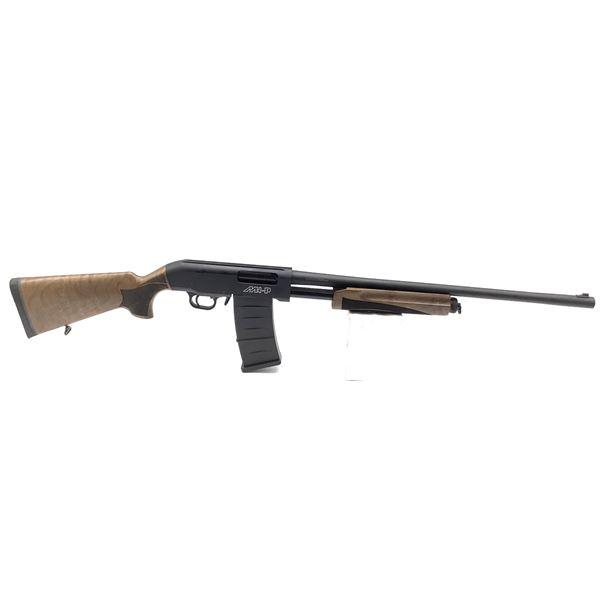 "Hunt Group MH-P Pump-Action Shotgun, 24"" Barrel, 12 Ga. 3"", Walnut Stocks, New"
