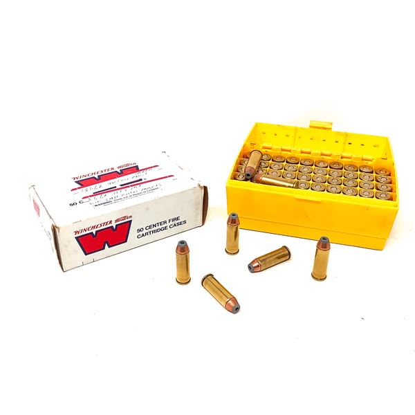 44 Rem Mag Ammunition, Approx 105 Rounds and Flambeau Shellholder