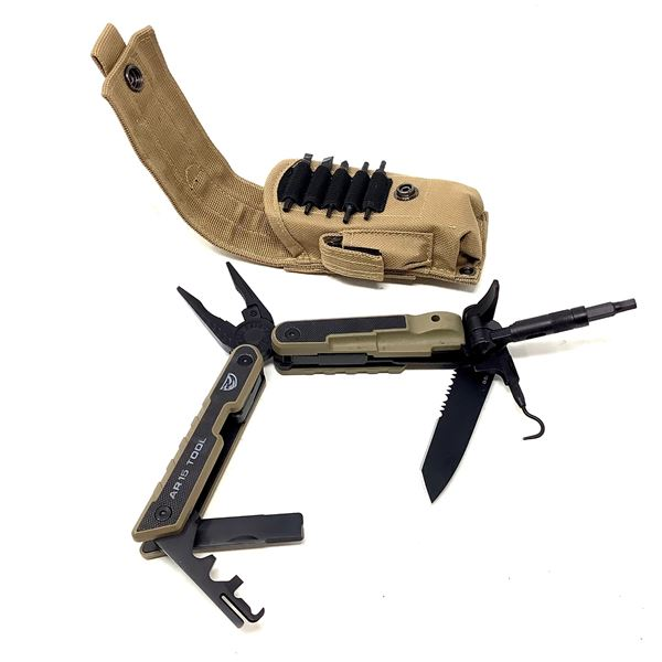 Real Avid AR-15 Tool with Bits in Pouch