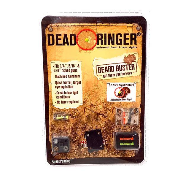 "Dead Ringer 1/4"", 5/16"" 3/8"" Ribbed Shotgun Barrel Sight, New"