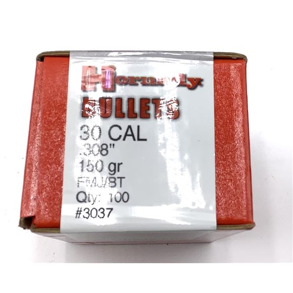 Hornady 30Cal .308 150gr Projectiles 100count