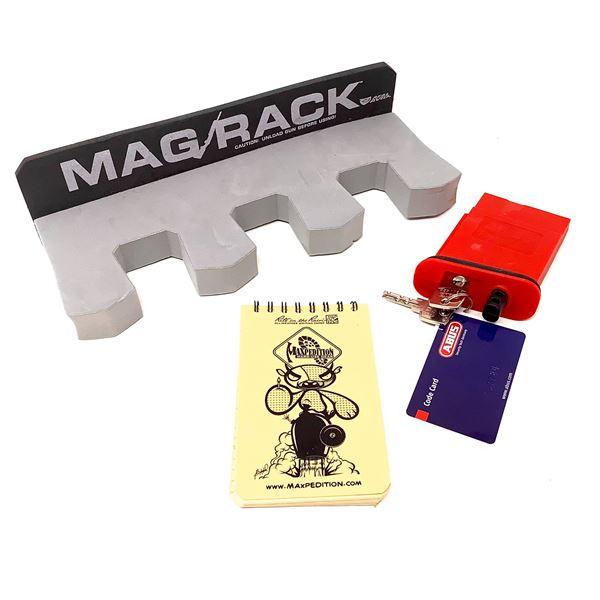 Real Avid Sponge Gun Rack and AR-15 Lock and Waterproof Notepad