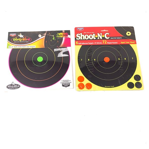 Reactive Targets, Shoot-N-C, 6 Pack and Dirty Bird 20 Pack, New