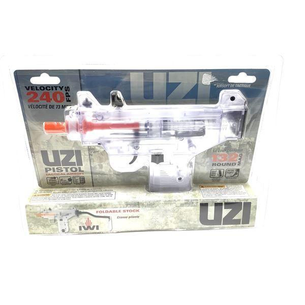 Umarex UZI Mini Clear 6mm Airsoft Pistol, 240 fps, New