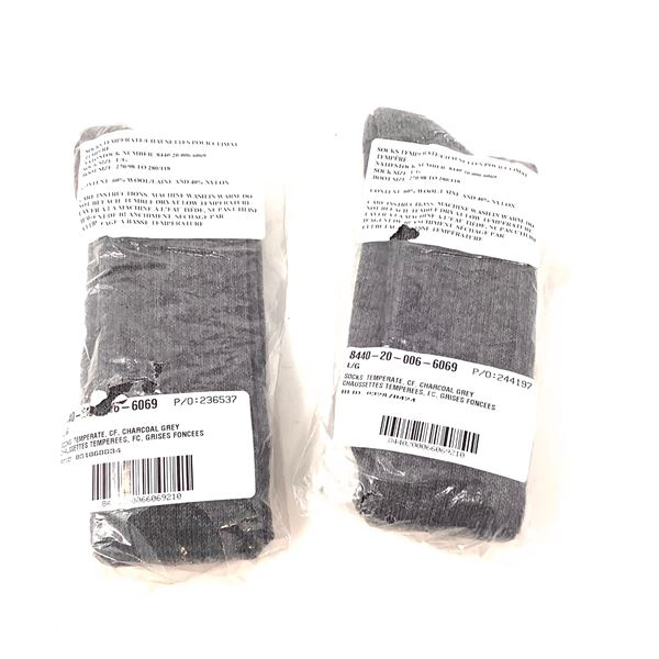 Temperate Weather Wool Socks Size Lg X 2, New