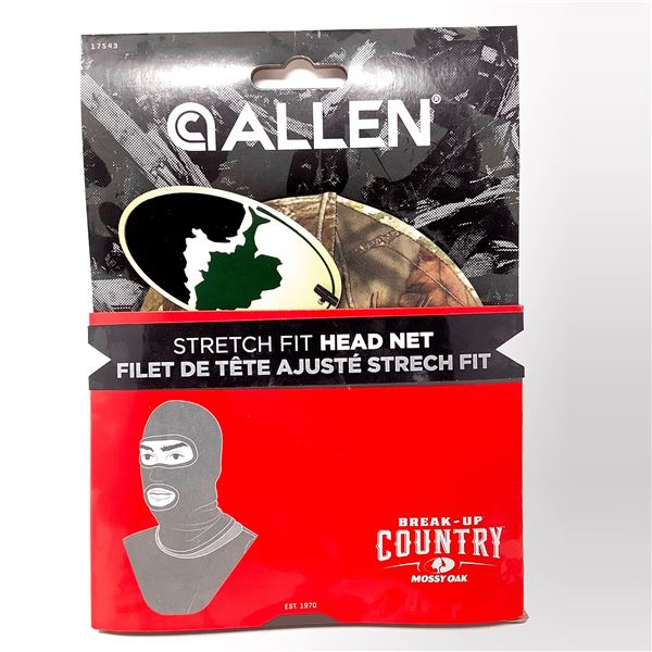 Allen Stretch Fit Head Net, BUC Mossy Oak, New