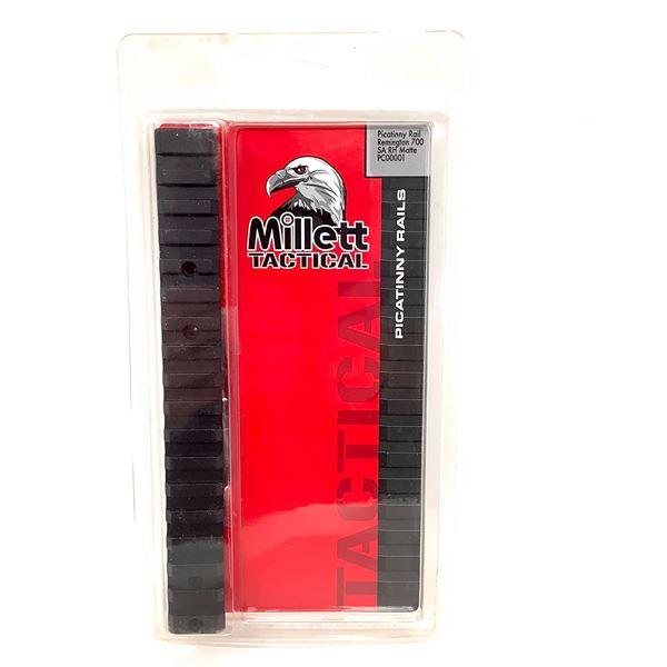 Millett Tactical Picatinny Rail for Remington 700 SA RH Matte, New