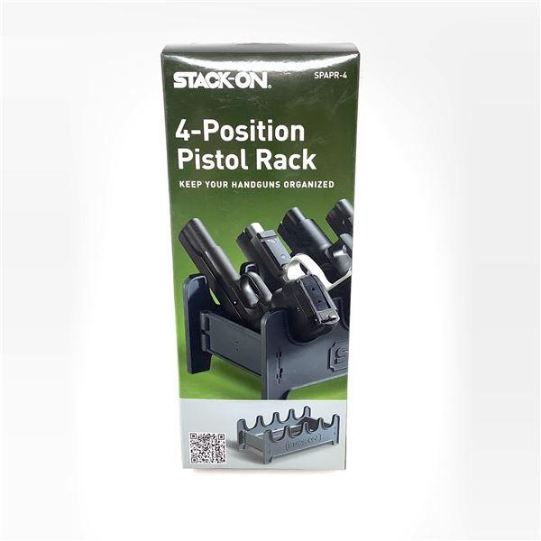 Stack-On 4 Position Pistol Rack, New