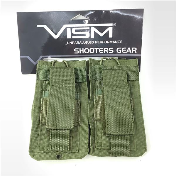 VISM Double Rifle Magazine Pouch, ODG, New