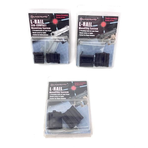 LaserLyte L-Rail Mounting System for Pistol X 3, New
