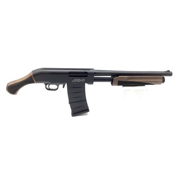 "Hunt Group MH-P Pump-Action Shotgun,15"" Barrel, 12 Ga. 3"", Walnut Stocks, New"