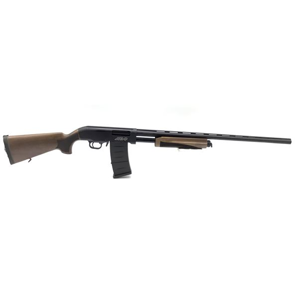 "Hunt Group MH-P Pump-Action Shotgun, 28"" Barrel, 12 Ga. 3"", Walnut Stocks, New"