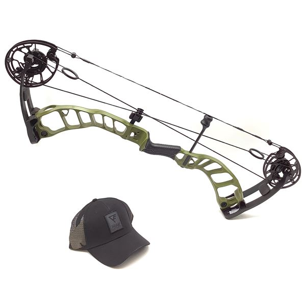Prime Archery Nexus 2 Compound Bow, RH 29/60, Hammered Green/ Black, New