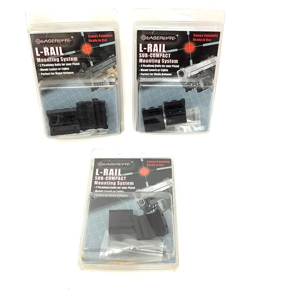 LaserLyte L-Rail Mounting System for Pistol, 2 for Sub-Compact, New