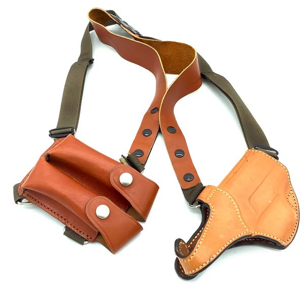 Bianchi Leather P226 Shoulder Rig w/ Holster & Mag Pouch
