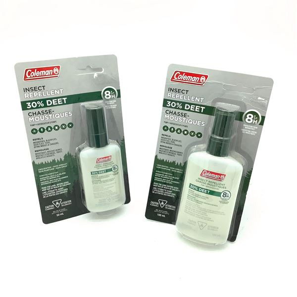 Coleman Insect Repellent 30% Deet, 100 mL and 50 mL
