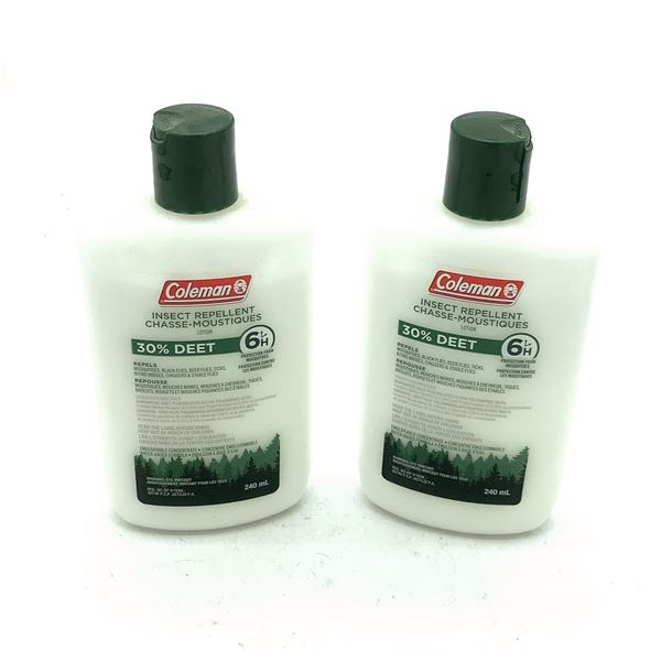 Coleman Insect Repellent 30% Deet, 240 mL Lotion X 2