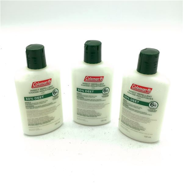 Coleman Insect Repellent 30% Deet Lotion 100 mL X 3