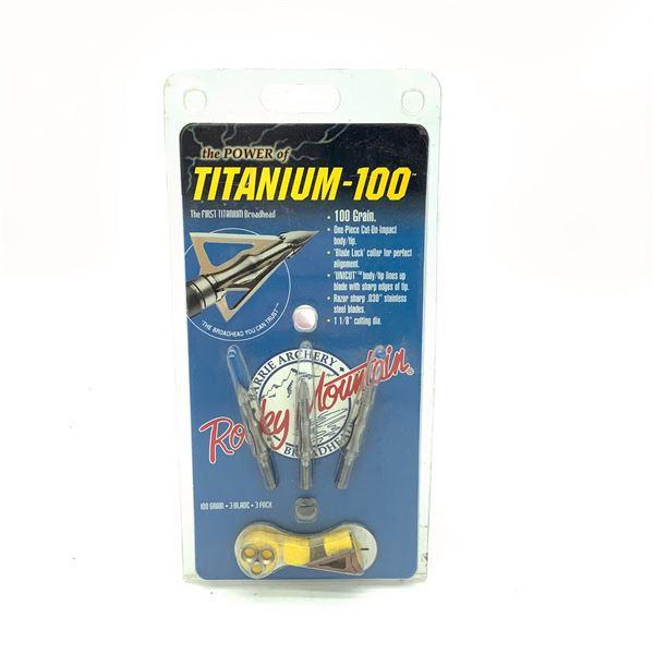 Rocky Mountain Titanium 100, 100 Grain Broadheads, New