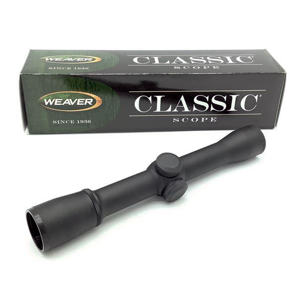Weaver Classic 1-4 X 28 mm Rimfire Scope With Dual X Reticle, New
