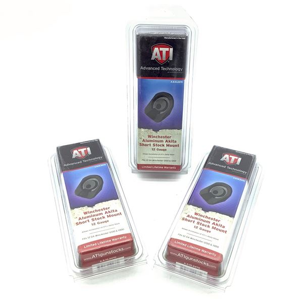 ATI Winchester 1200 and 1300 12 Ga Akita Short Stock Mount X 3, New