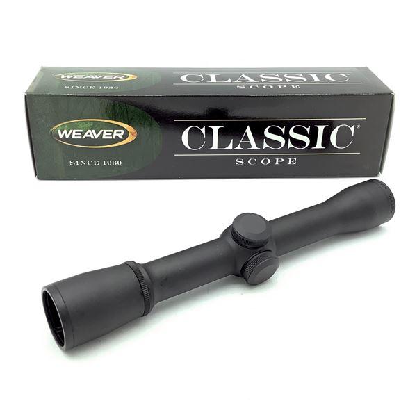 Weaver Classic 1 - 4 X 28 mm Rimfire Scope With Dual X Reticle, New